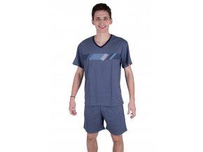 Pánske pyžamo 515 so vzorom farebných pruhov Regina