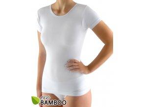 Dámske bambusové tričko hladké bezšvíkové 08027P