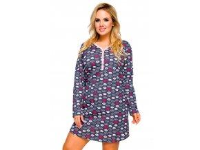 Dámska nočná košeľa nadmerné veľkosti Tamara so vzorom pier Taro