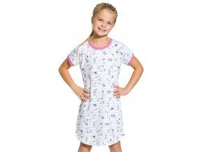 Dievčenská nočná košeľa Pepa so vzorom jemného prúžku Taro