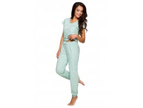 Dámske pyžamo Jula so vzorom srdiečok Taro
