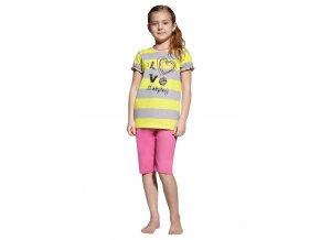 Dievčenské dievčenské pyžamo capri s nápisom I love sleeping Taro