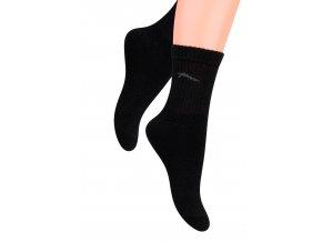 Chlapčenské klasické ponožky jednofarebné s logom 014 Steven