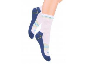 Chlapčenské klasické ponožky polofrofé s nápisom Sport 020/3 STEVEN