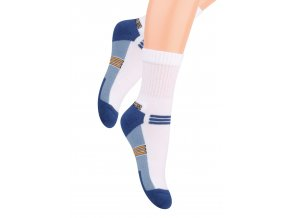 Chlapčenské klasické ponožky polofrofé s nápisom Sport 020/4 STEVEN