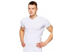 Pánske jednofarebné tričko s krátkym rukávom 002 Fabio