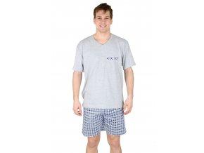 Pánske pyžamo s kraťasy 541 so vzorom kocky Regina
