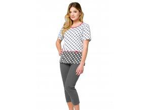 Dámske pyžamo so vzorom bodiek 850 Regina