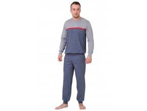 Pánske pyžamo Kasjan s nápisom extreme life style M-Max