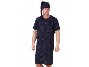 Pánska nočná košeľa Hieronim s jemným vzorom kocky M-Max