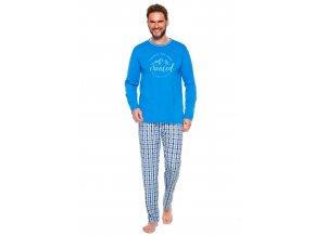 Pánske pyžamo Leo sa vzorom kocky Taro