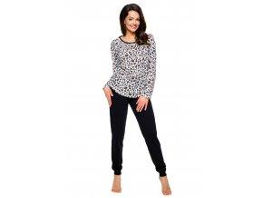 Dámske pyžamo Roza so vzorom geparda Taro