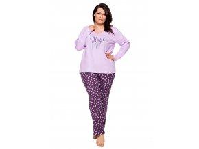 Dámske pyžamo nadmerné veľkosti Jula s nápisom Hope Taro