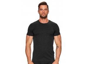 Pánske jednofarebné tričko so vzorom melíru 01 Fabio