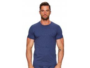Pánske jednofarebné tričko so vzorom melíru 06 Fabio