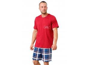 Pánske pyžamo Ikar so vzorom farebné kocky M-Max
