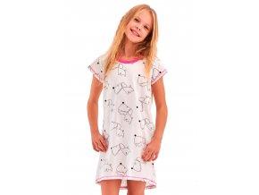 Dievčenská nočná košeľa Pepa so vzorom psov Taro