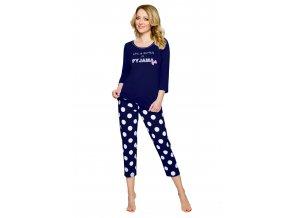 Dámske pyžamo so vzorom bodiek 840 Regina