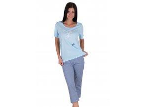 Dámske pyžamo s obrázkom kvety 913 Regina