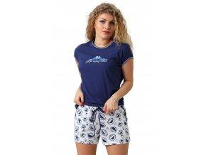 Dámske pyžamo Rebeka s krátkym rukávom a kraťasy M-Max