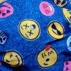 Rúško dvojité s vreckom vzor Smajlíci Jeans