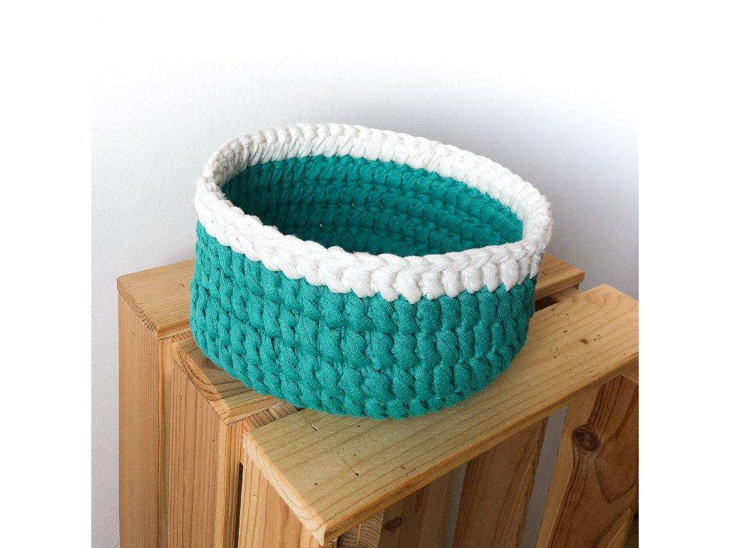 Zelený bavlněný košík Smar, ⌀ 19 cm
