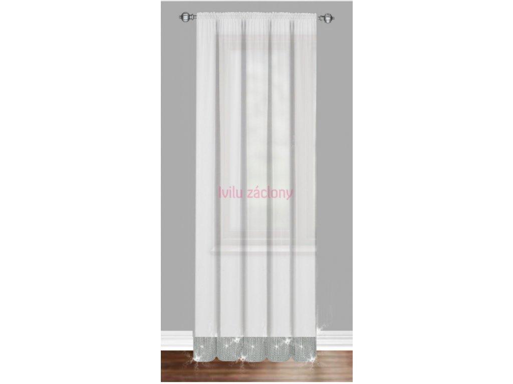Dveřová záclona zirkony