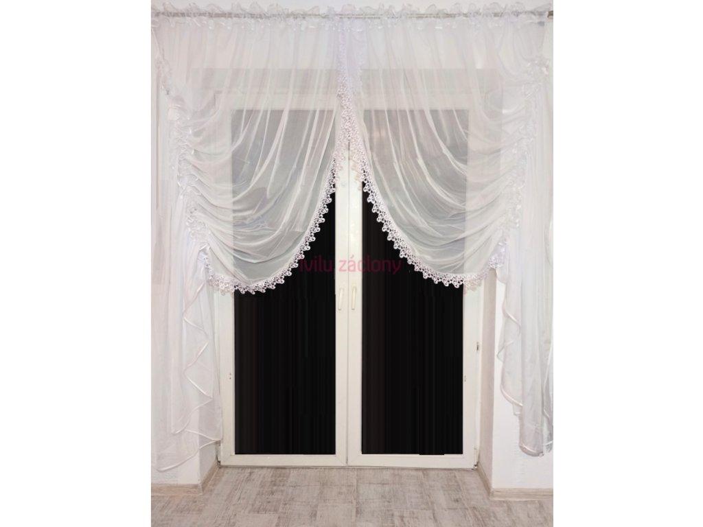 valerie terasová záclona s krajkou