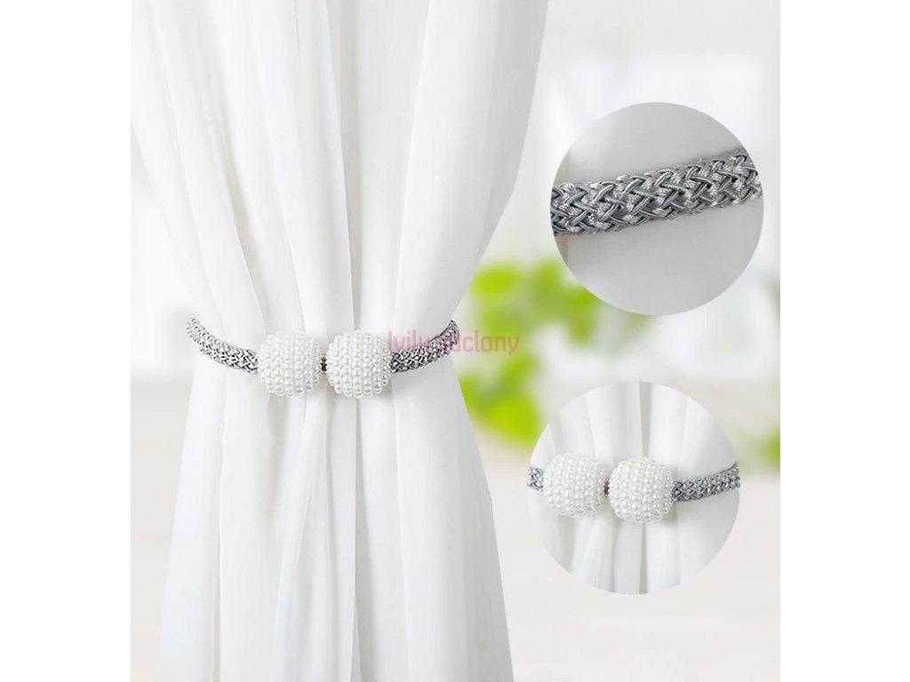 upnutí stříbrné magnet perly