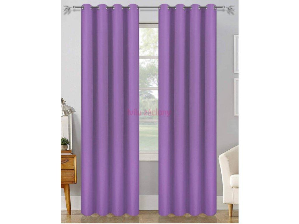 erika fialová světle závěs