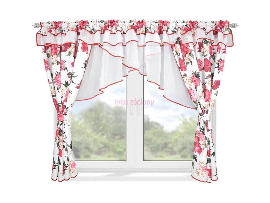 Záclona BĚTKA KVĚTY růže