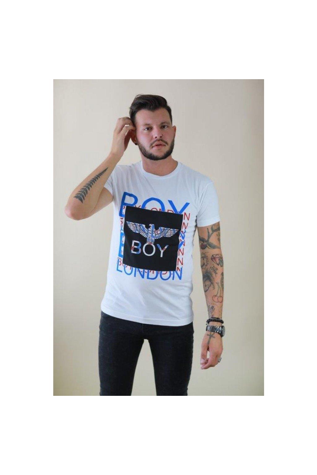 Tričko Boy London - bílé s barevným logem (Velikost Velikost S)