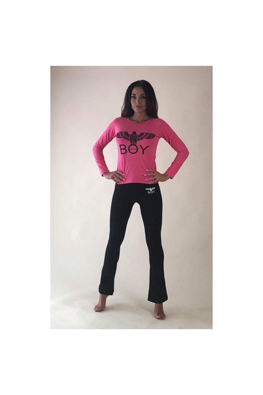 Tričko Boy London - růžové se znakem (Velikost Velikost M)