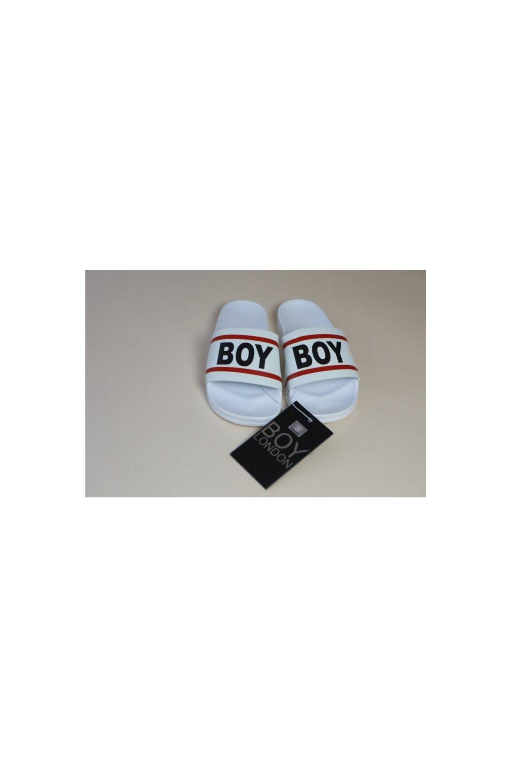 Nazouváky Boy London - bílé UNISEX (Velikost Velikost 45)