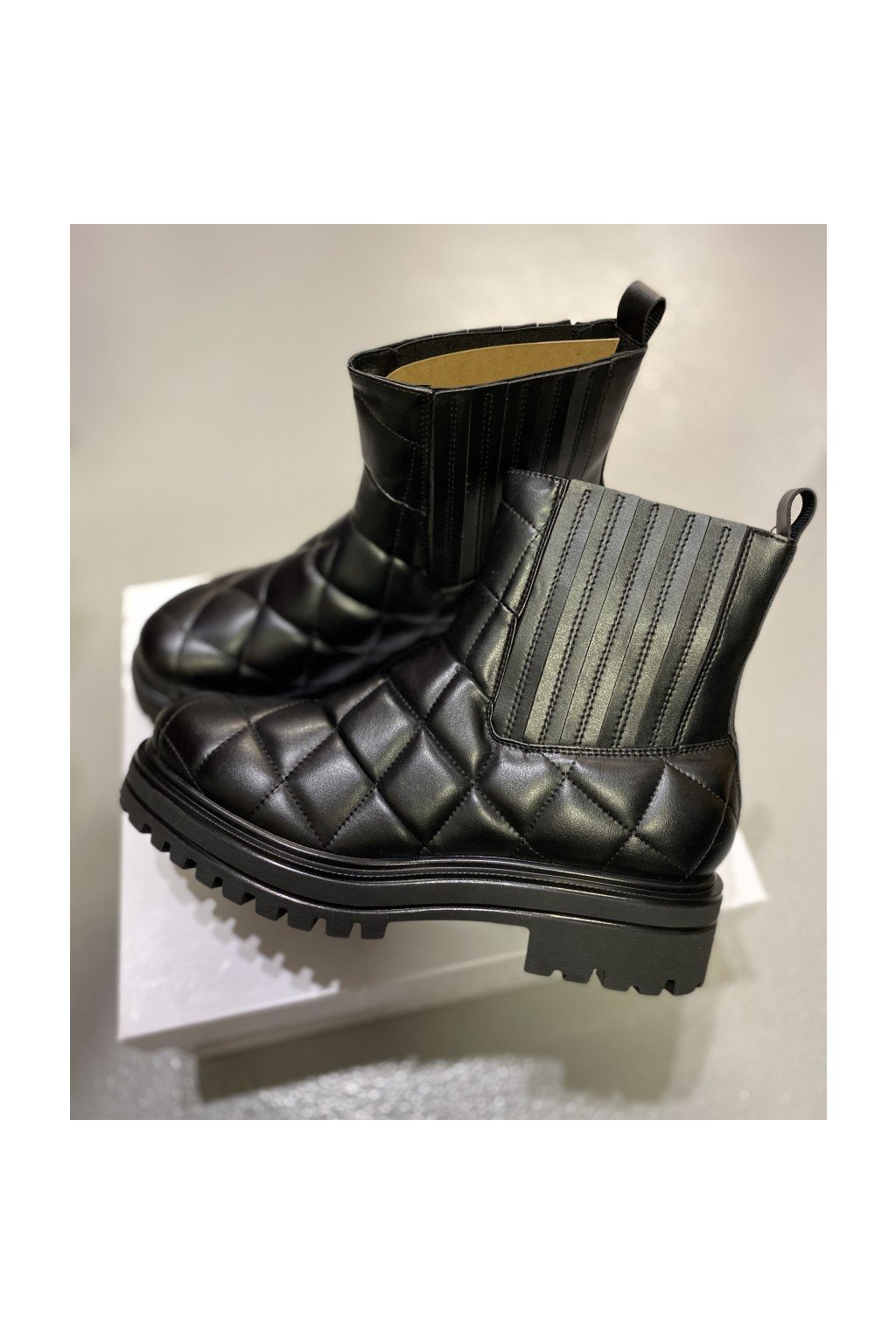 L´ESTROSA kožené boty - černé (Velikost Velikost 39)