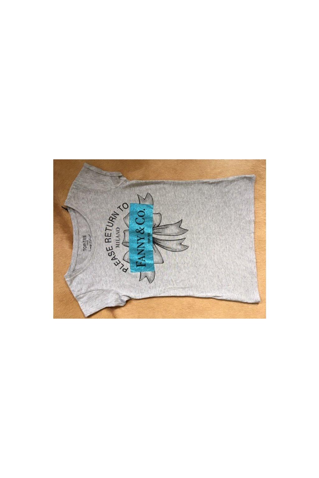 Tričko Top-Tee s nápisem Fanny &Co. - šedé (Velikost Velikost XS)