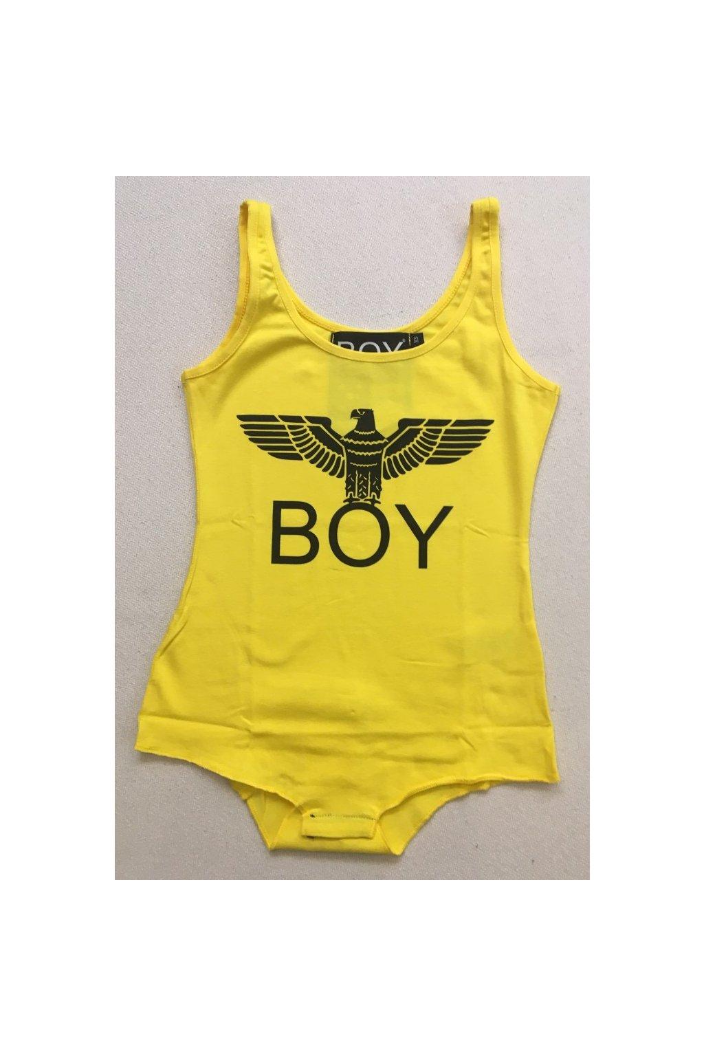 Body tílko Boy London - žluté (Velikost Velikost M)