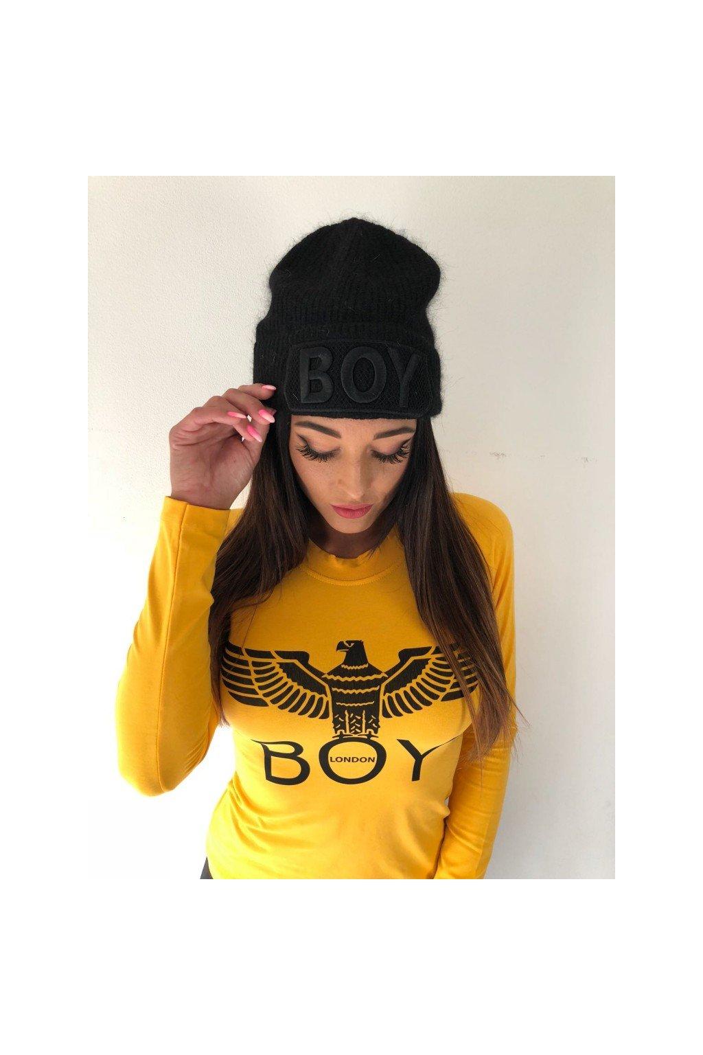 Tričko Boy London s dlouhým rukávem a znakem - žluté (Velikost Velikost S)