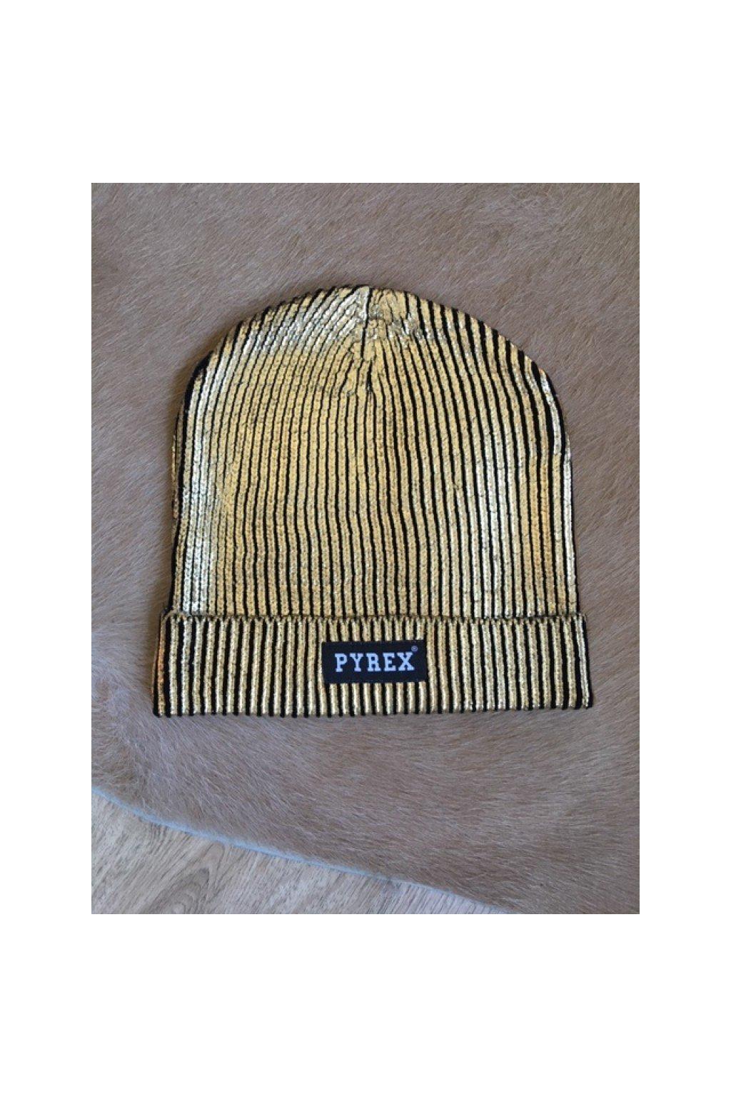 Čepice Pyrex lesklá - zlatá (Velikost Velikost UNI)