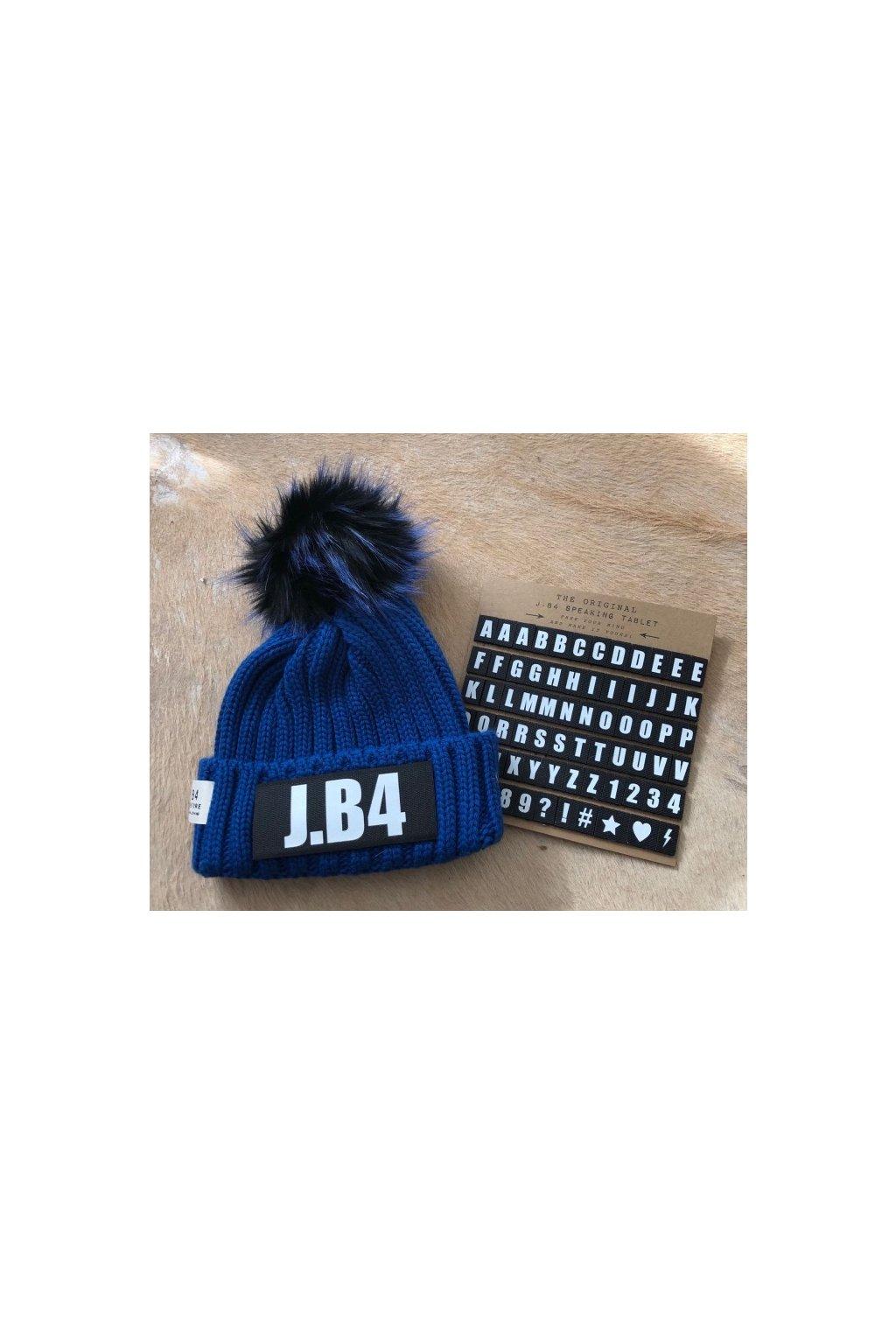 Čepice J.B4 - personalizovaná s bambulí, tmavě modrá (Velikost Velikost UNI)