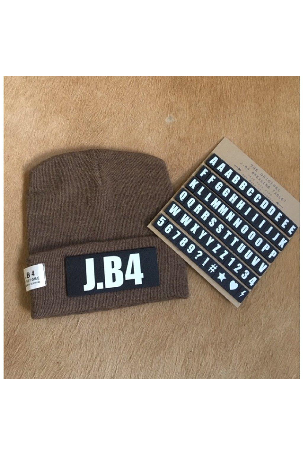 Čepice J.B4 - personalizovaná, hnědá (Velikost Velikost UNI)