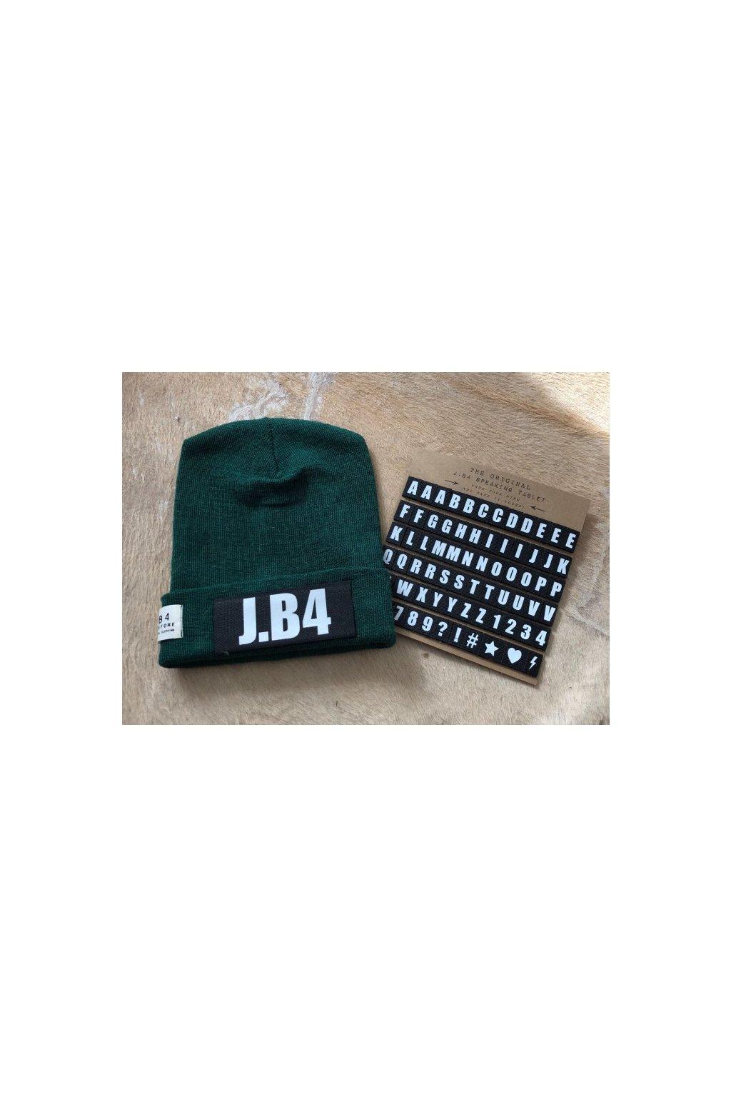Čepice J.B4 - personalizovaná, zelená (Velikost Velikost UNI)