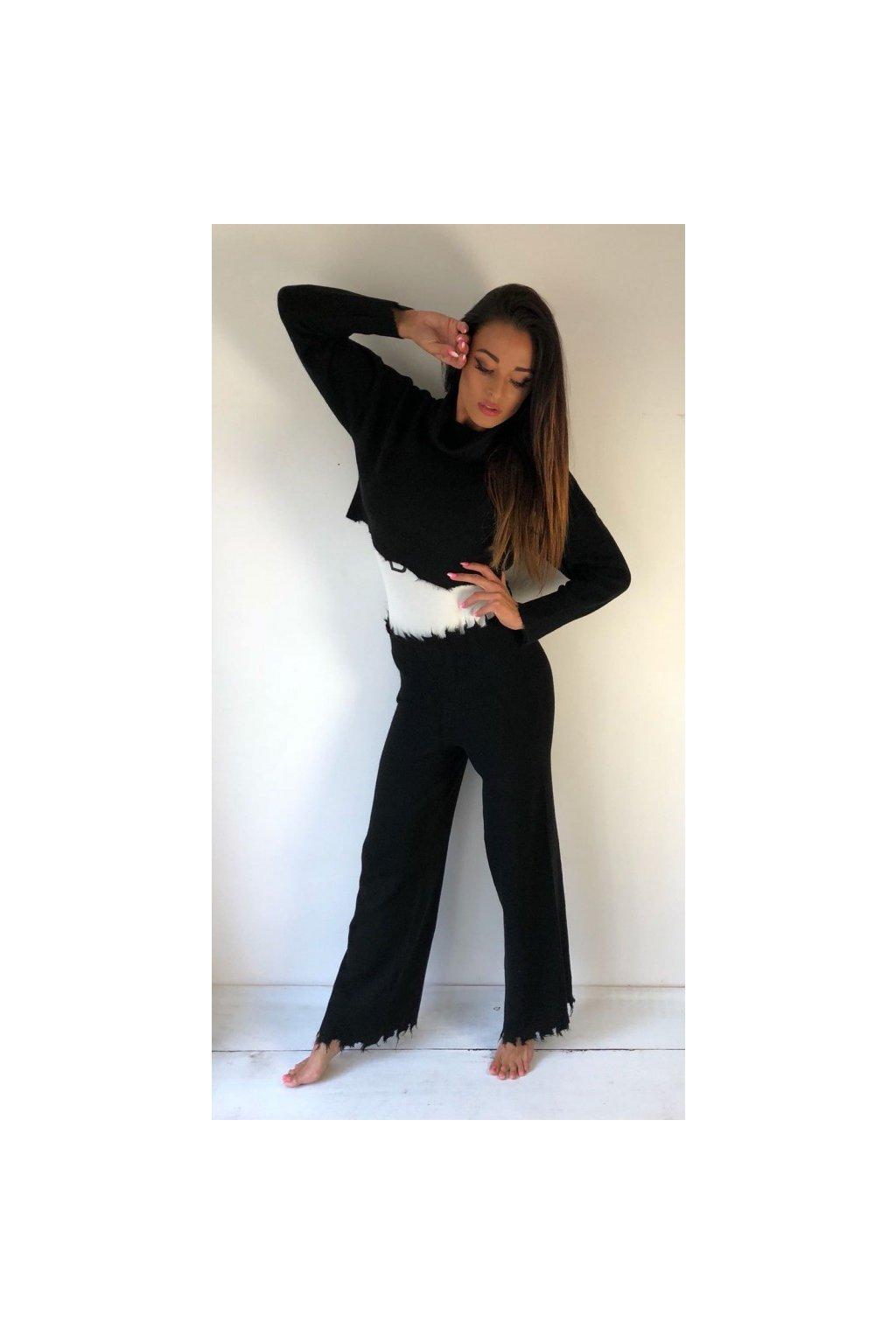 Kalhoty z pleteniny Kostumn1 - černé (Velikost Velikost L)