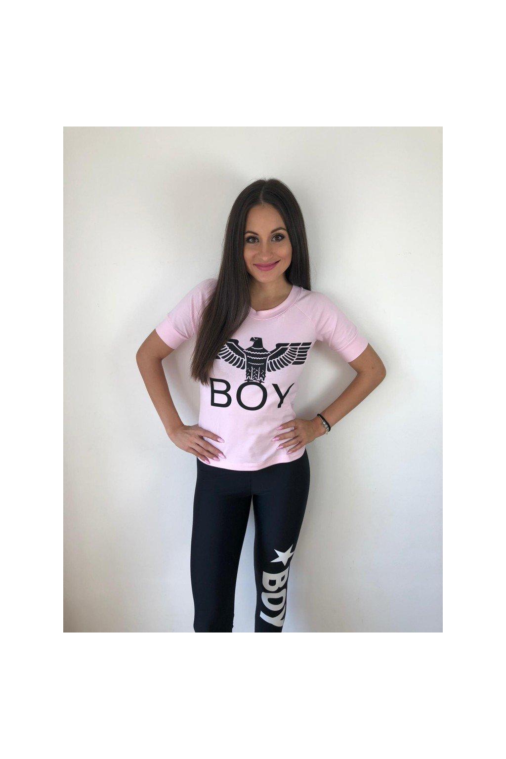 Tričko s krátkým rukávem Boy London - růžové (Velikost Velikost S)