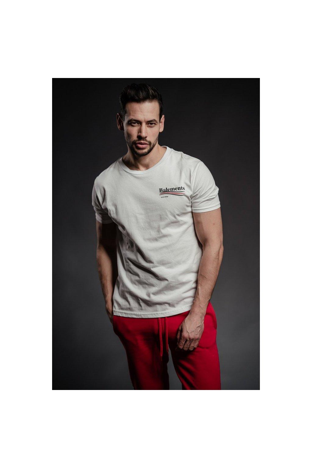 Tričko Balements s nápisem na zádech - bílé (Velikost Velikost L)