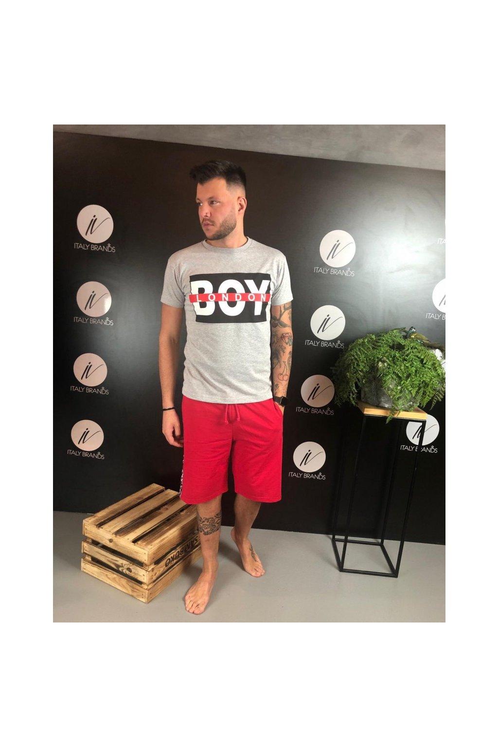 Tričko s nápisem Boy London - šedé (Velikost Velikost XL)