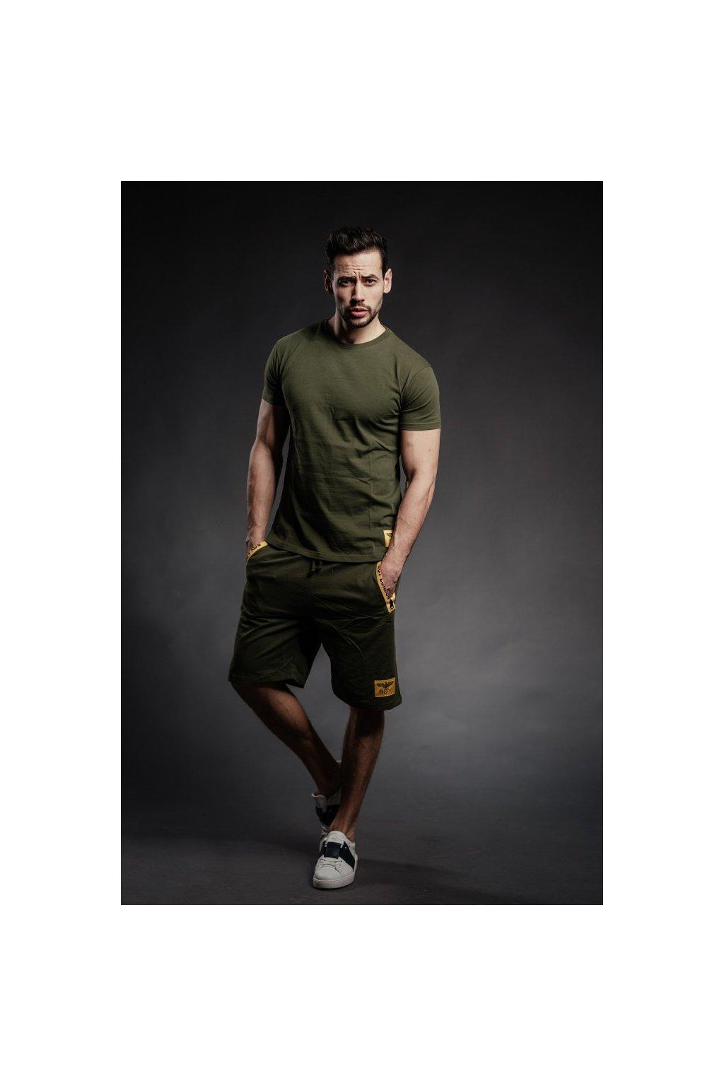 Tričko s malým znakem Boy London - khaki (Velikost Velikost L)