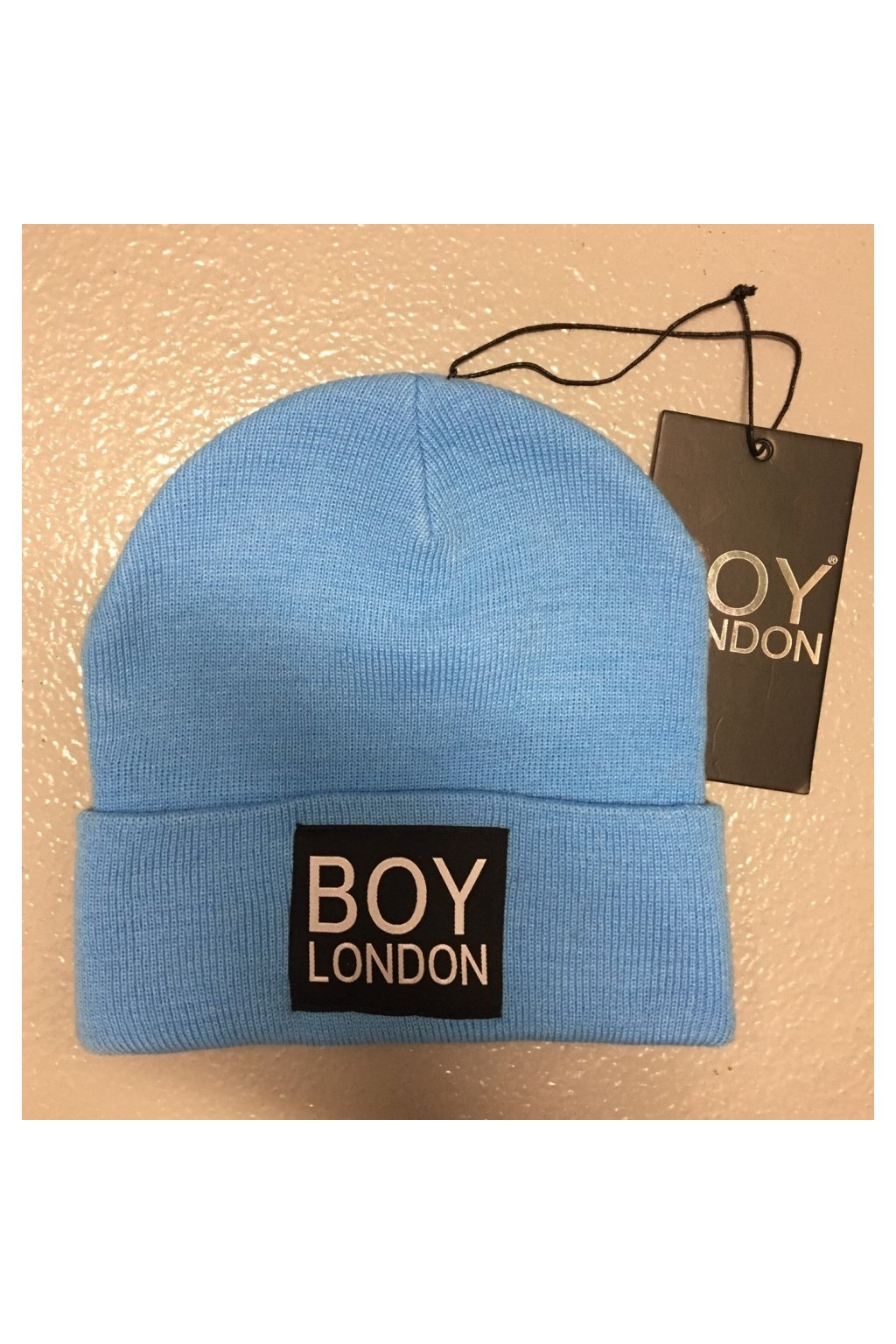 Čepice s nášivkou BOY LONDON - světle modrá (Velikost Velikost UNI)