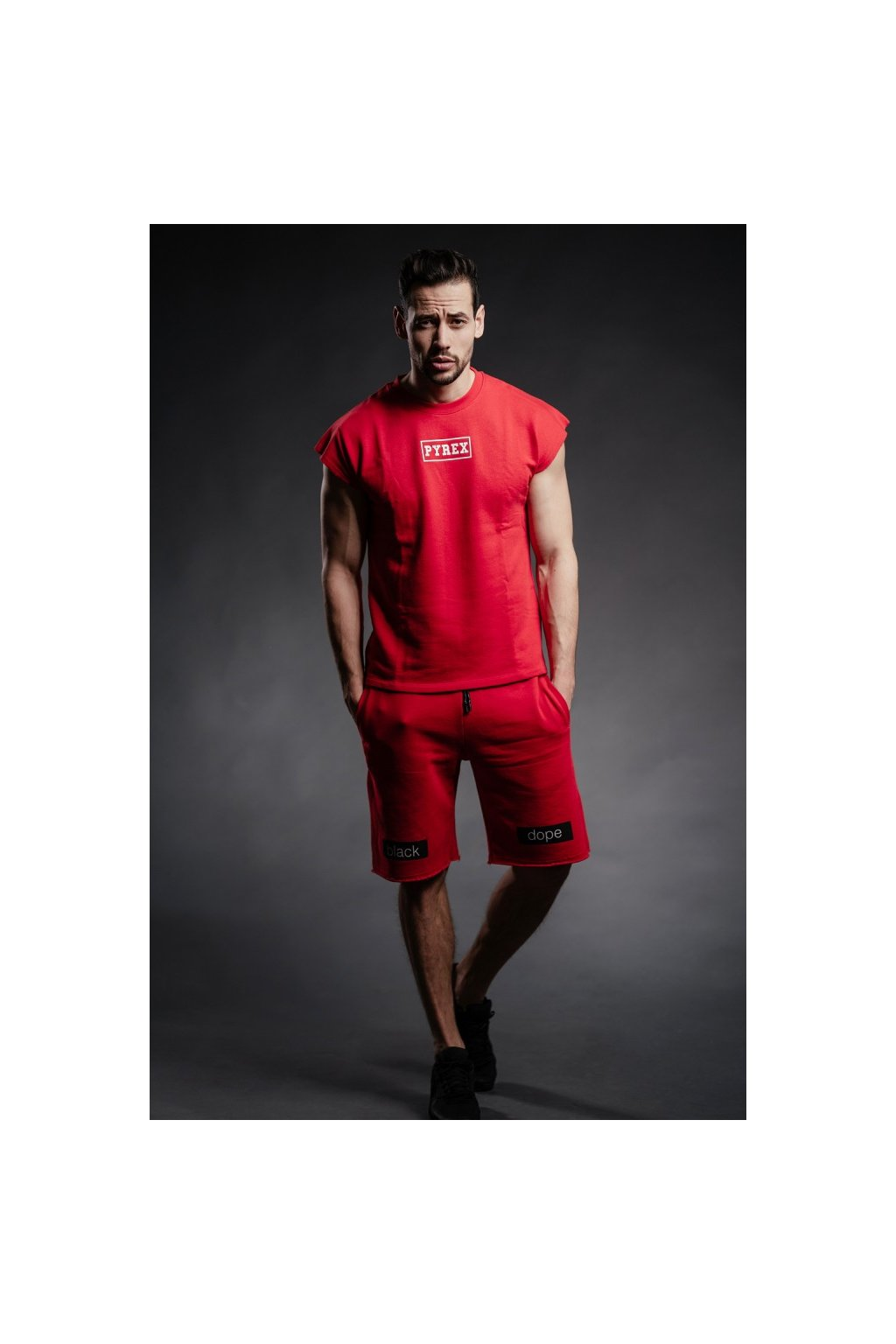 Tričko s krátkým rukávem Pyrex - červené (Velikost Velikost XL)