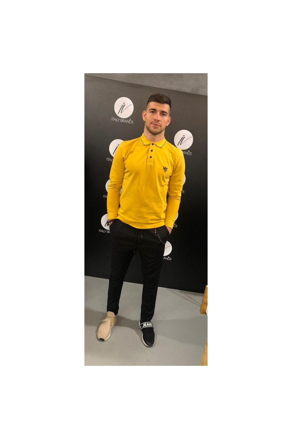 Tričko polo MARKUP - žluté (Velikost Velikost XL)